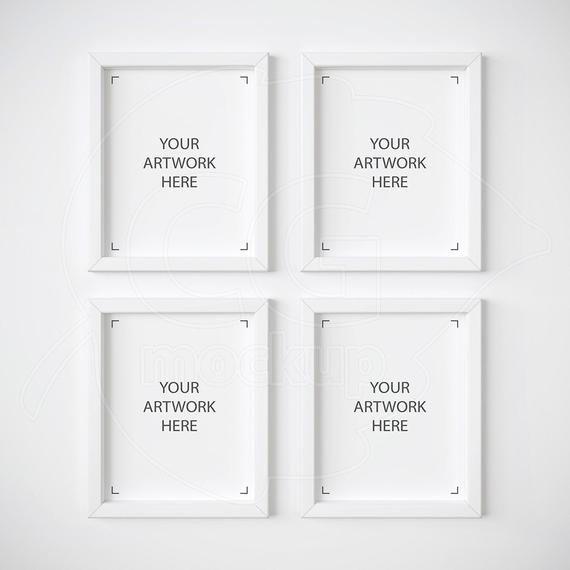 8x10 Frame Mockup Free Set Of 4 Mockup 8x10 Frame Mockup White Frame Mockups by