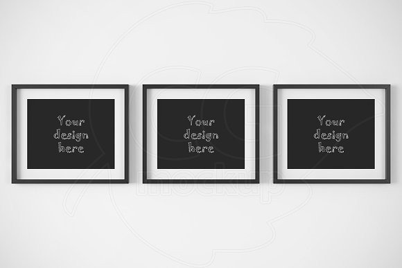 "8x10 Frame Mockup Free Three Horizontal Frames 8x10"" Mockup Product Mockups On"