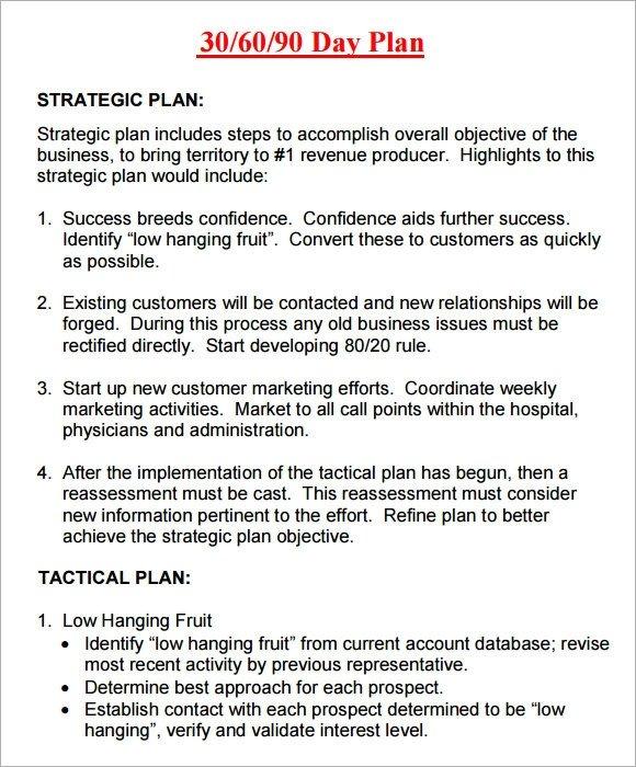 90 Day Action Plan Templates 14 Sample 30 60 90 Day Plan Templates Word Pdf