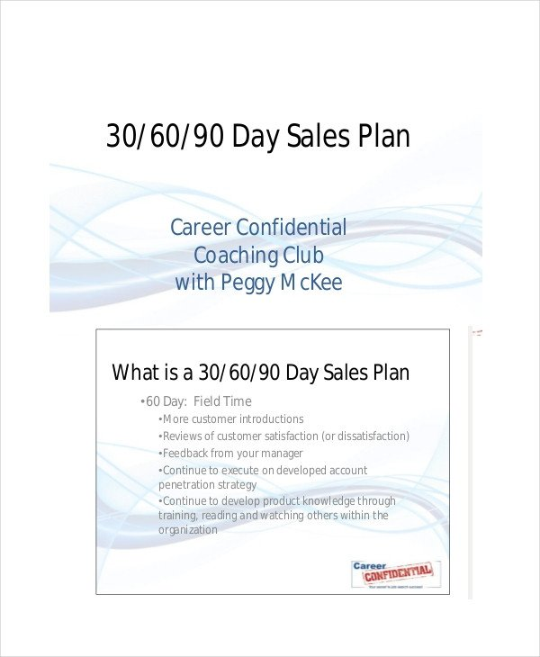 90 Day Sales Plan 19 Examples Of 30 60 90 Day Plans Word Pdf