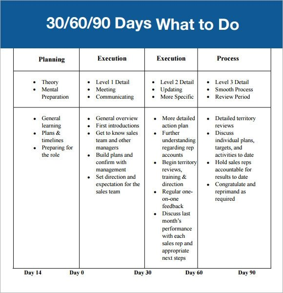 90 Day Sales Plan 30 60 90 Day Plan Template 7 Free Download for Pdf