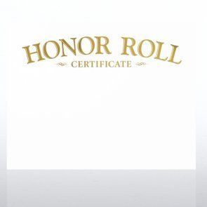 A Honor Roll Certificate Amazon Foil Stamped Certificate Paper Honor Roll