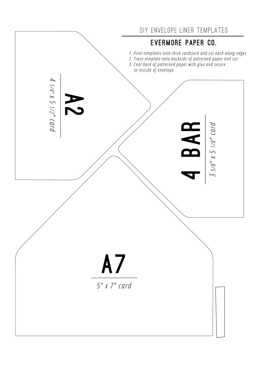 A7 Envelope Liner Template 40 Free Envelope Templates Word Pdf Template Lab