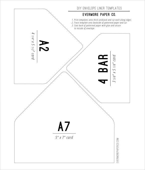 A7 Envelope Liner Template 9 Envelope Liner Templates Download for Free