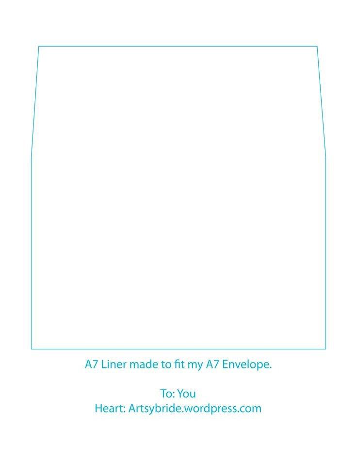 A7 Envelope Liner Template A7 Envelope Liner Template Printables