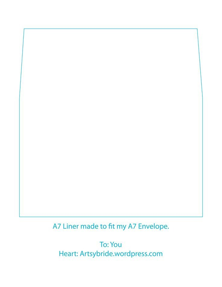 A7 Envelope Liner Template A7 Envelope Template