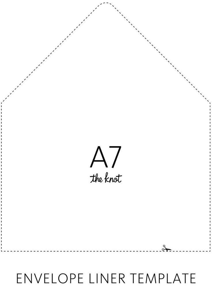 A7 Envelope Liner Template Envelope Liner Template Crafts Pinterest