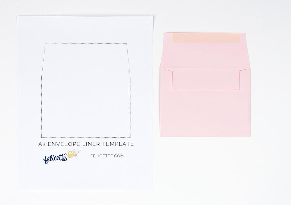 A7 Envelope Liner Template Stamped Envelope Liners Templates – Felicette