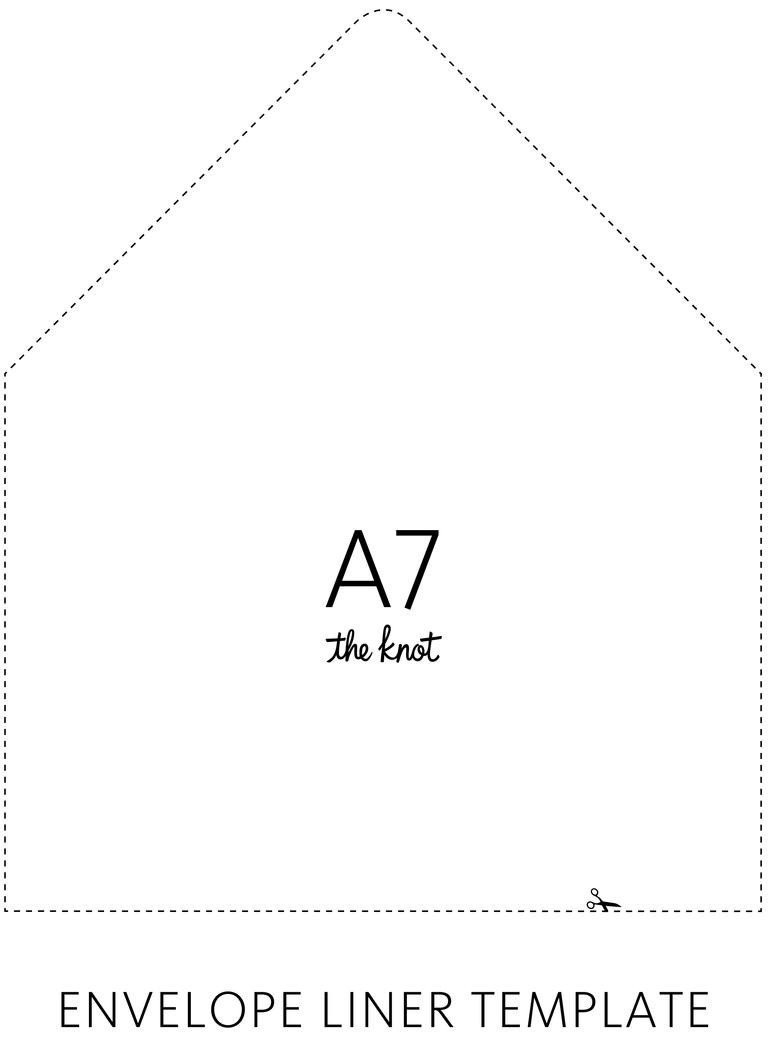 A7 Envelope Liner Template the Knot Envelope Liner Template