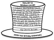 Abraham Lincoln Hat Template 14 Best Images About Presidents Day Projects and Bulletin
