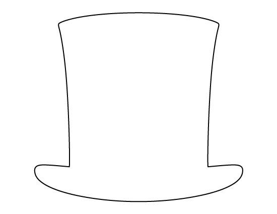 Abraham Lincoln Hat Template Abraham Lincoln Hat Pattern Use the Printable Outline for