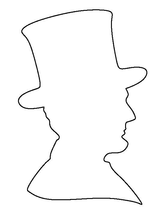 Abraham Lincoln Hat Template Abraham Lincoln Pattern Use the Printable Outline for
