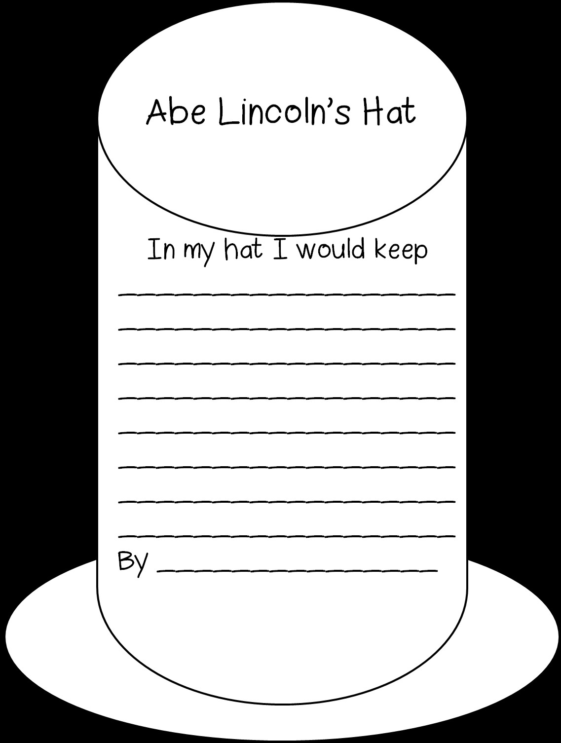 Abraham Lincoln Hat Template First Grade Wow Historical Figures George and Abe