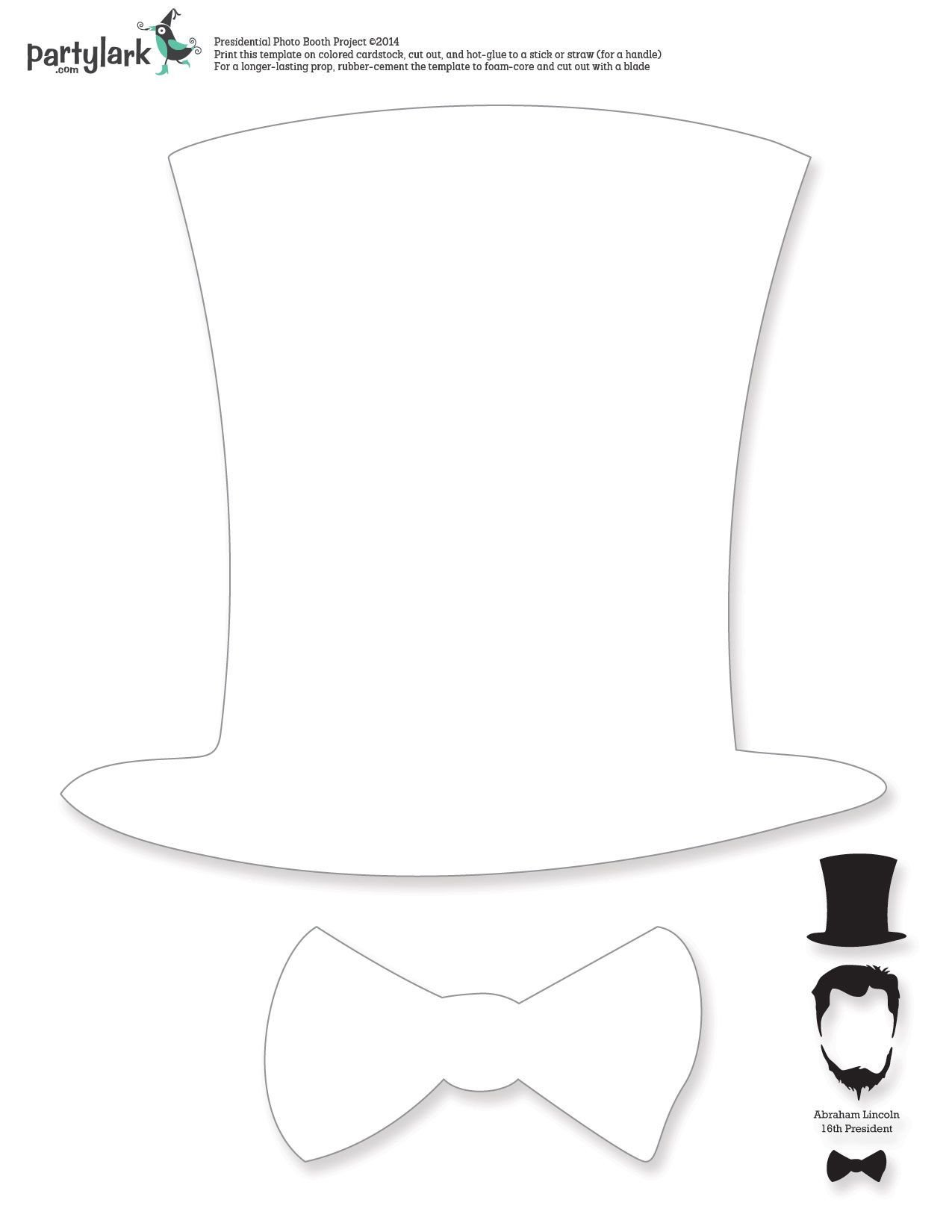 Abraham Lincoln Hat Template Pin by Party Lark On Partytime February Kiddos