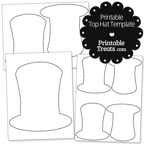 Abraham Lincoln Hat Template Printable top Hat Template — Printable Treats