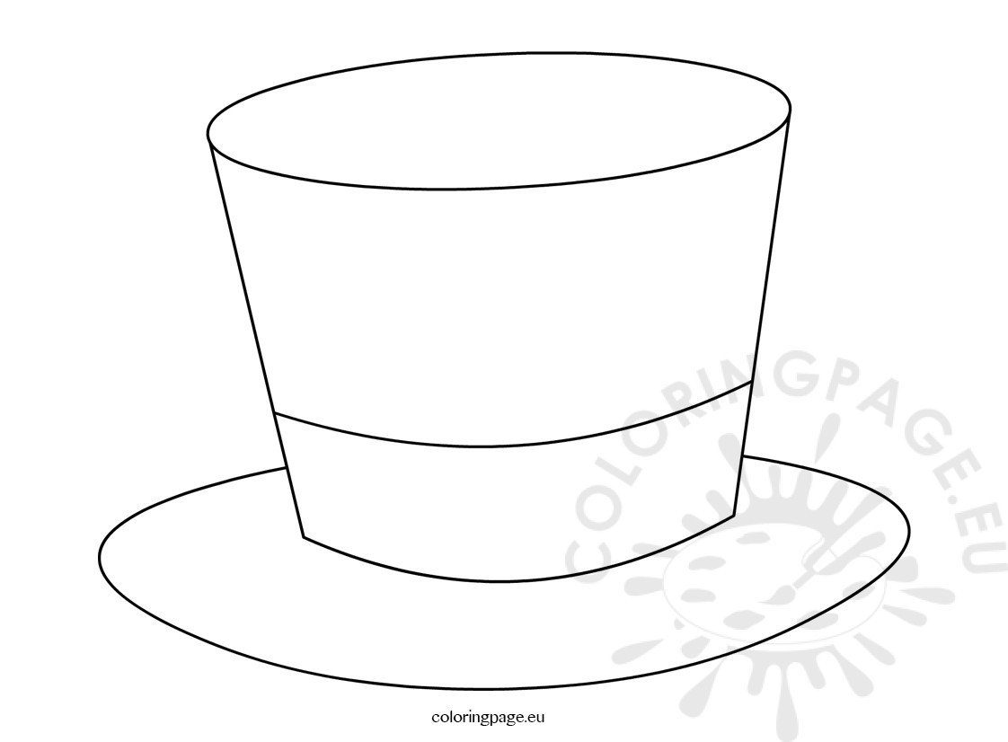 Abraham Lincoln Hat Template top Hat Coloring Pages