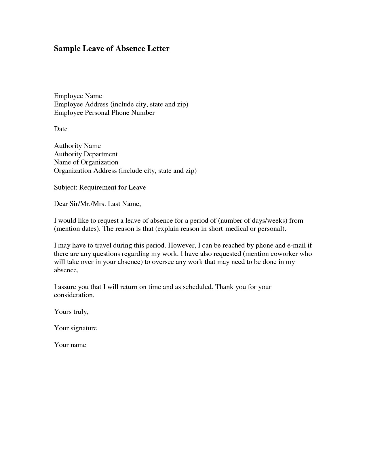 Absence Letter for School How to Write An Absent Letter to A School