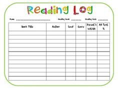 Accelerated Reading Log 1000 Images About Accelerated Reader On Pinterest