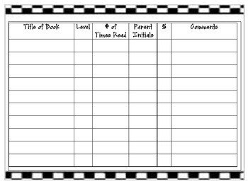 Accelerated Reading Log Accelerated Reader Reading Log by I Can Do All Things