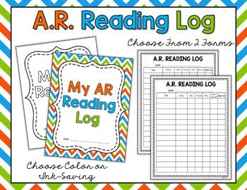 Accelerated Reading Log Ar Reading Packet Accelerated Reader Logs Bookmarks