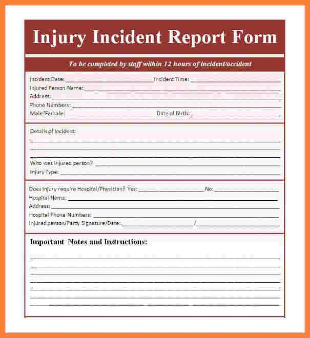 Accident Reporting form Template 9 Incident and Accident Report form Template