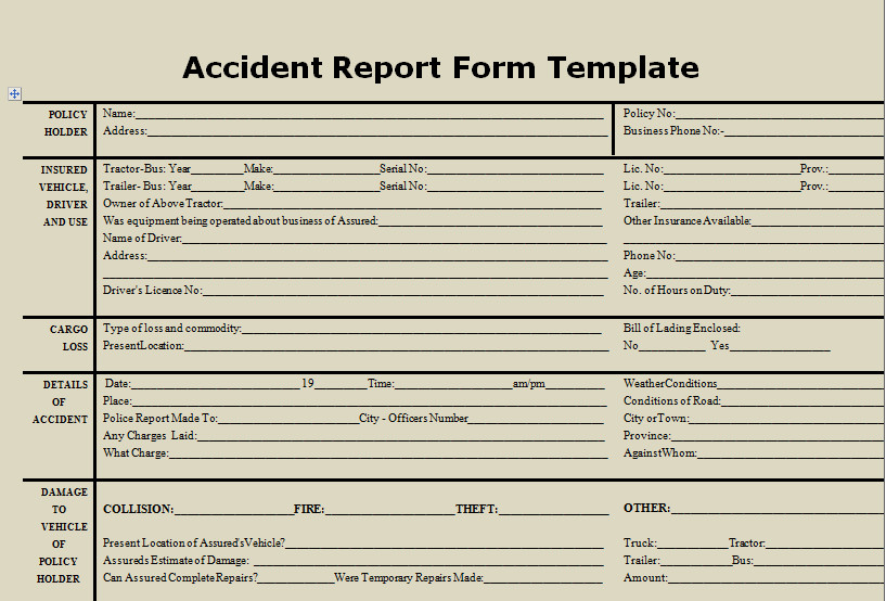 Accident Reporting form Template Download Accident Report form Template Microsoft Excel