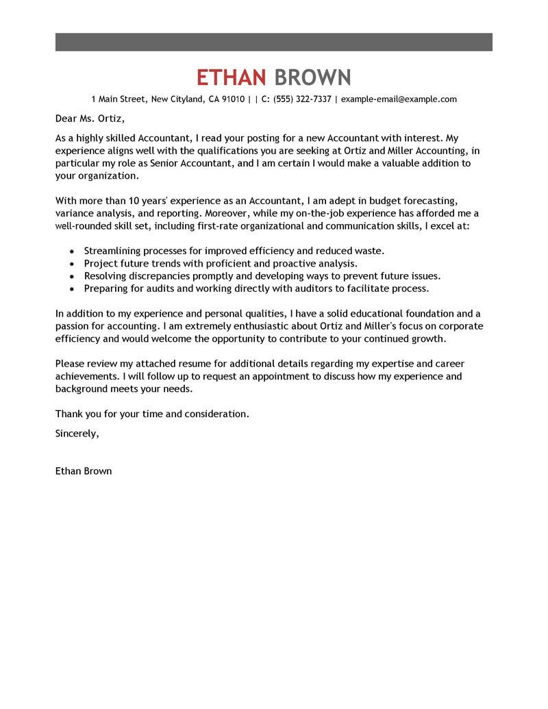 Accounting Internship Cover Letter Accounting Internship Cover Letter Sample