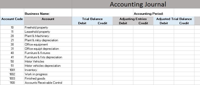 Accounting Journal Entry Template Free Accounting Templates In Excel
