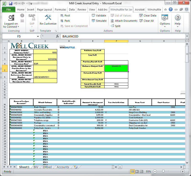 Accounting Journal Entry Template Improving Sap Journal Entry Processes
