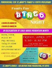 Ad Book Fundraiser Template Customizable Design Templates for Bingo Night Template