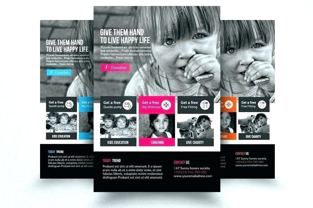 Ad Book Fundraiser Template Muat Turun Charity Poster Yang Gempak Dan Boleh Di
