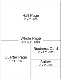 Ad Book Fundraiser Template Quarter Page