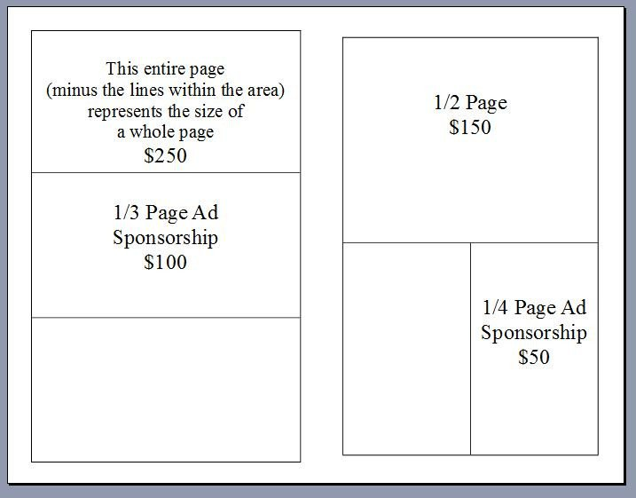 Ad Book Fundraiser Template Sponsor Book Info Emily S Hopeful Holiday