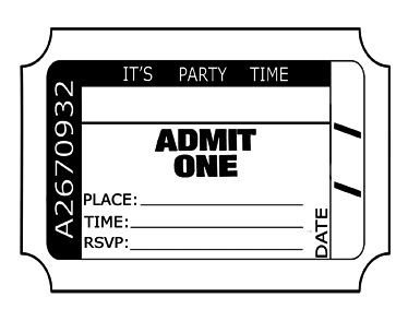 Admit One Ticket Template Admit E Invitations Printable Cobypic