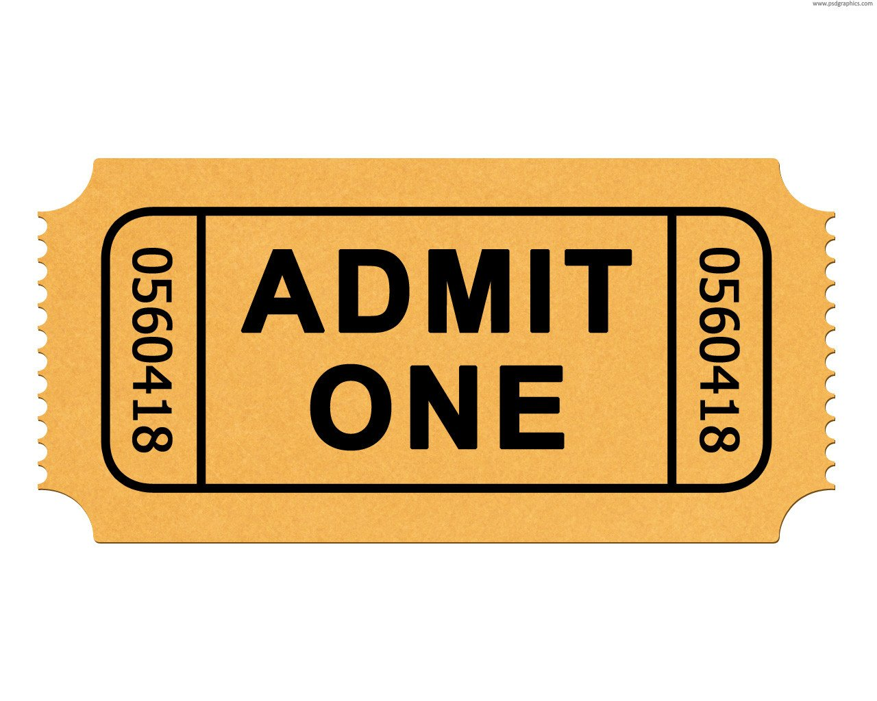 Admit One Ticket Template Admit E Ticket Template Clipart Best