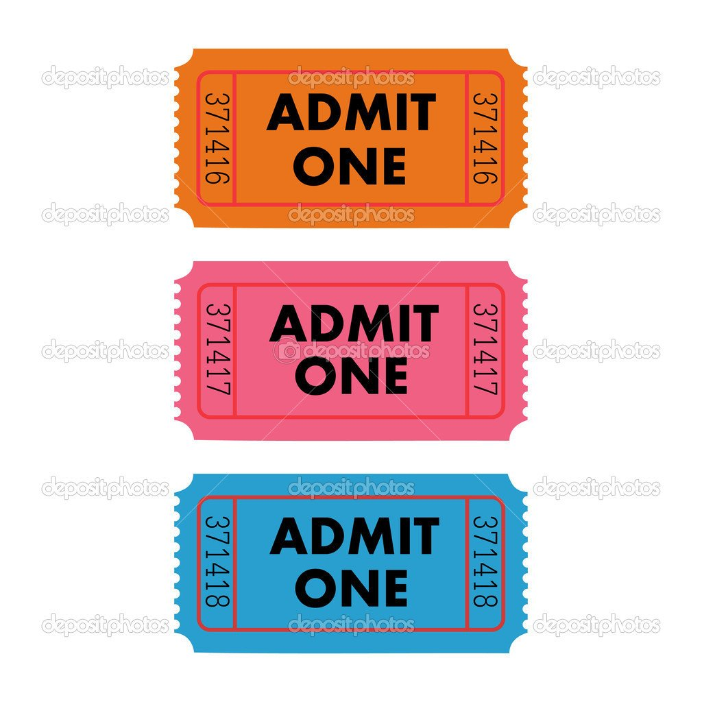 Admit One Ticket Template Admit One Ticket Template Free Printable