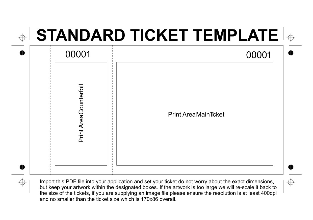 Admit One Ticket Template Dinner Ticket Templates