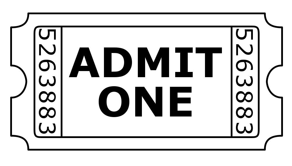 Admit One Ticket Template Free Digistamps