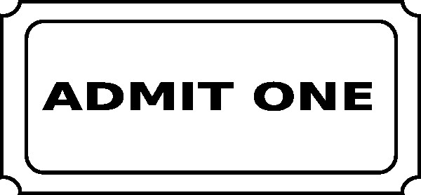 Admit One Ticket Template Free Printable Admit E Ticket Template Clipart Best