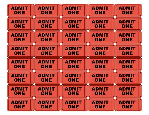 Admit One Ticket Template Free Printable Admit E Ticket Templates Blank