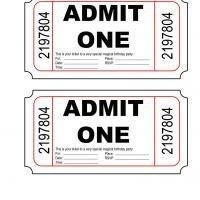 Admit One Ticket Template Printable Admit E Birthday Party Invite Freeprintable