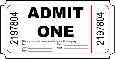 Admit One Ticket Template Ticket Template Free Clipart Best Clipart Best