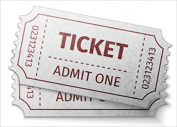Admit One Ticket Template Ticket Templates – 99 Free Word Excel Pdf Psd Eps
