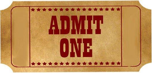 Admit One Ticket Template Tickets