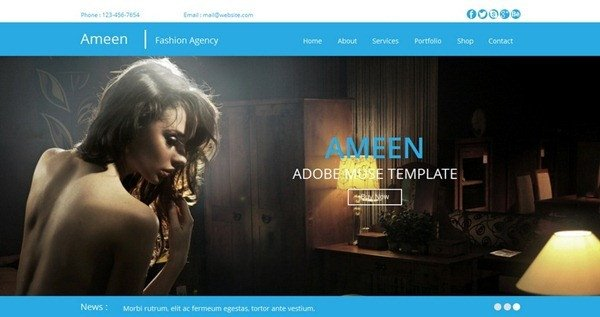 Adobe Muse Free Template 10 Professional Muse Templates February 2014 Edition