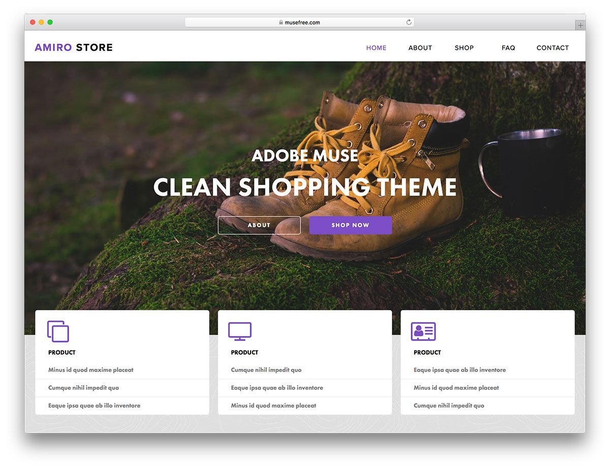 Adobe Muse Free Template 16 Free Adobe Muse Templates & themes 2019 Colorlib