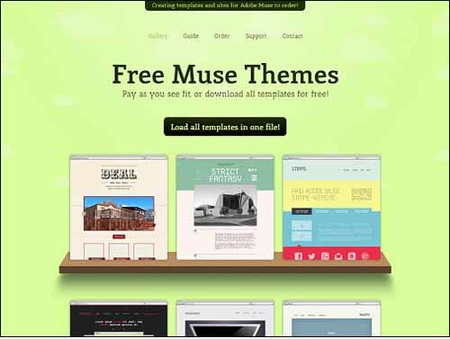 Adobe Muse Free Template Free and Premium Responsive Adobe Muse Templates
