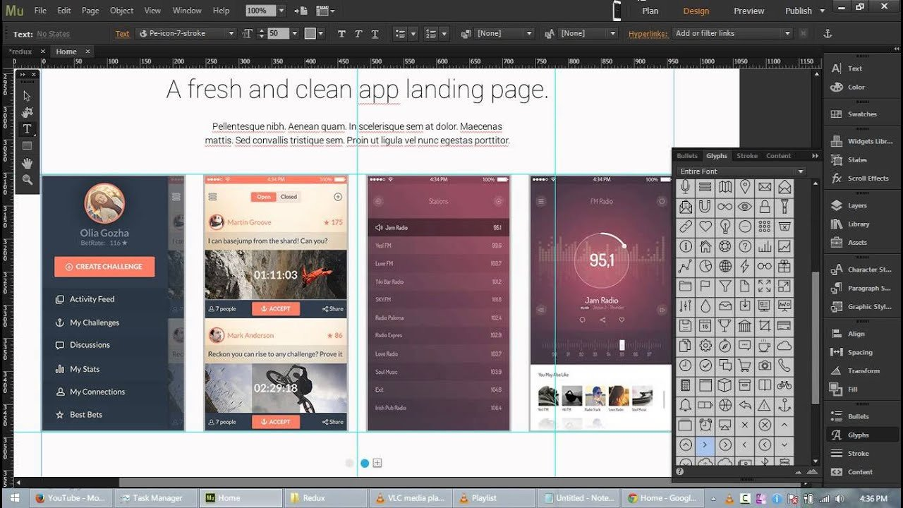 Adobe Muse Free Template Redux Free App Landing Page Template for Adobe Muse Cc