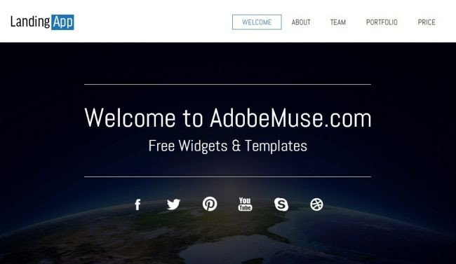 Adobe Muse Free Templates 12 Best Images About Adobe Muse On Pinterest
