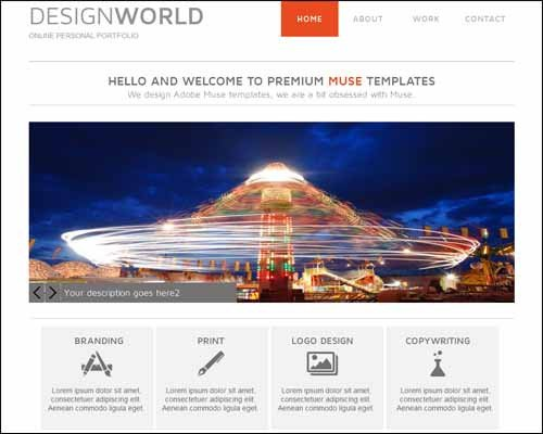 Adobe Muse Free Templates Latest Premium and Free Adobe Muse Templates thedesignblitz